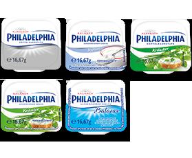 Philadelphia Portionen