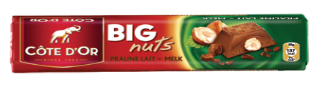 Chocolat Big Nuts Praliné Lait Côte d'Or