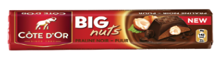 Chocolat Big Nuts Praliné Noir Côte d'Or