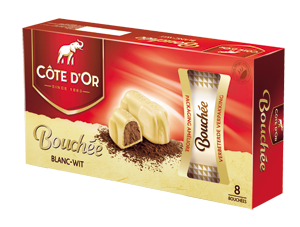 Chocolat Bouchées Blanche Côte d'Or