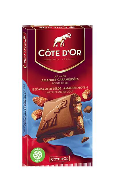 Melk Gekarameliseerde Amandelnoten Met Een Snufje Zout | Côte d'Or ...: www.cotedor.nl/producten/Melk Gekarameliseerde Amandelnoten Met Een...