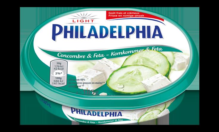 Philadelphia Komkommer & Feta Light 185 g