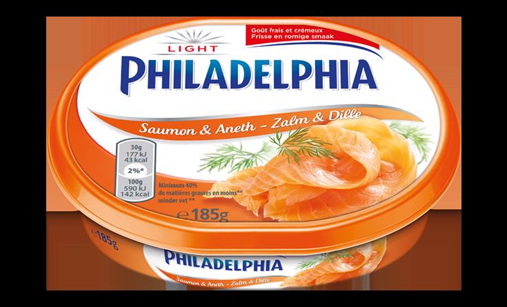 Philadelphia Zalm & Dille Light 185 g