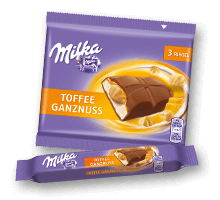 Milka Riegel Toffee Ganznuss