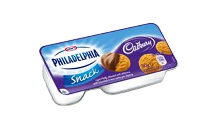 Philadelphia with Cadbury Snack