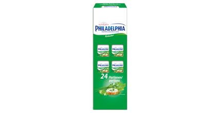Philadelphia Portionen Doppelrahm Kräuter