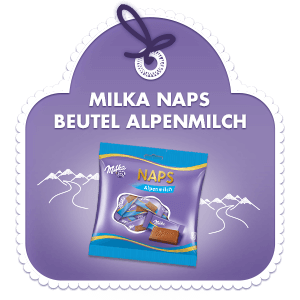 Milka Naps Beutel Alpenmilch