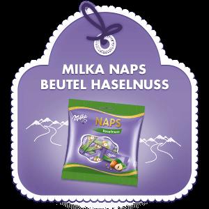 Milka Naps Beutel Haselnuss
