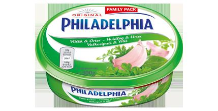 Philadelphia Vitlök & Örter 300g