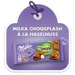Milka Chocsplash à la Haselnuss