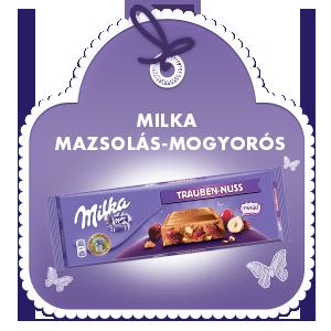MILKA MAZSOLÁS-MOGYORÓS 300G
