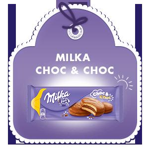 MILKA CHOC & CHOC 150G