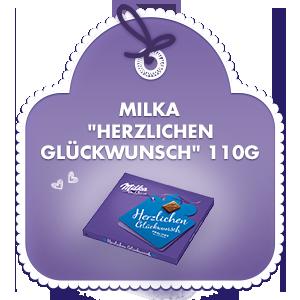 Milka Herzlichen Glückwunsch 110g