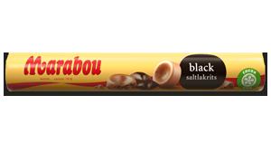 Marabou Black Saltlakrits rulle