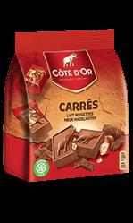 Chocolat Carré gourmand Lait Noisettes Côte d'Or