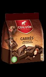 Chocolat Carré Gourmand Noir Noisettes Côte d'Or