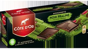 Mignonnette fourrée Noir Praliné