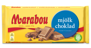 mjölkchoklad från Marabou