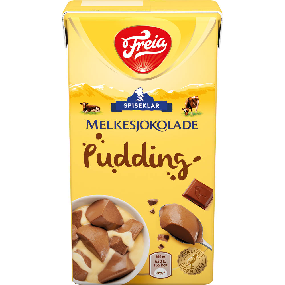 Freia Melkesjokoladepudding spiseklar (500 ml)