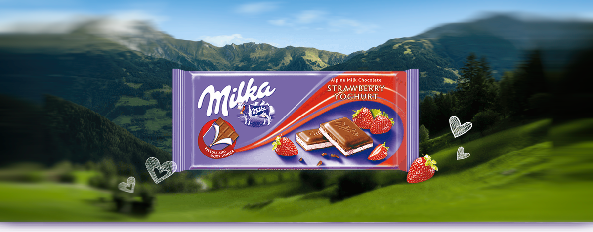 MILKA STRAWBERRY & YOGHURT