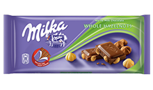 MILKA WHOLE HAZELNUTS