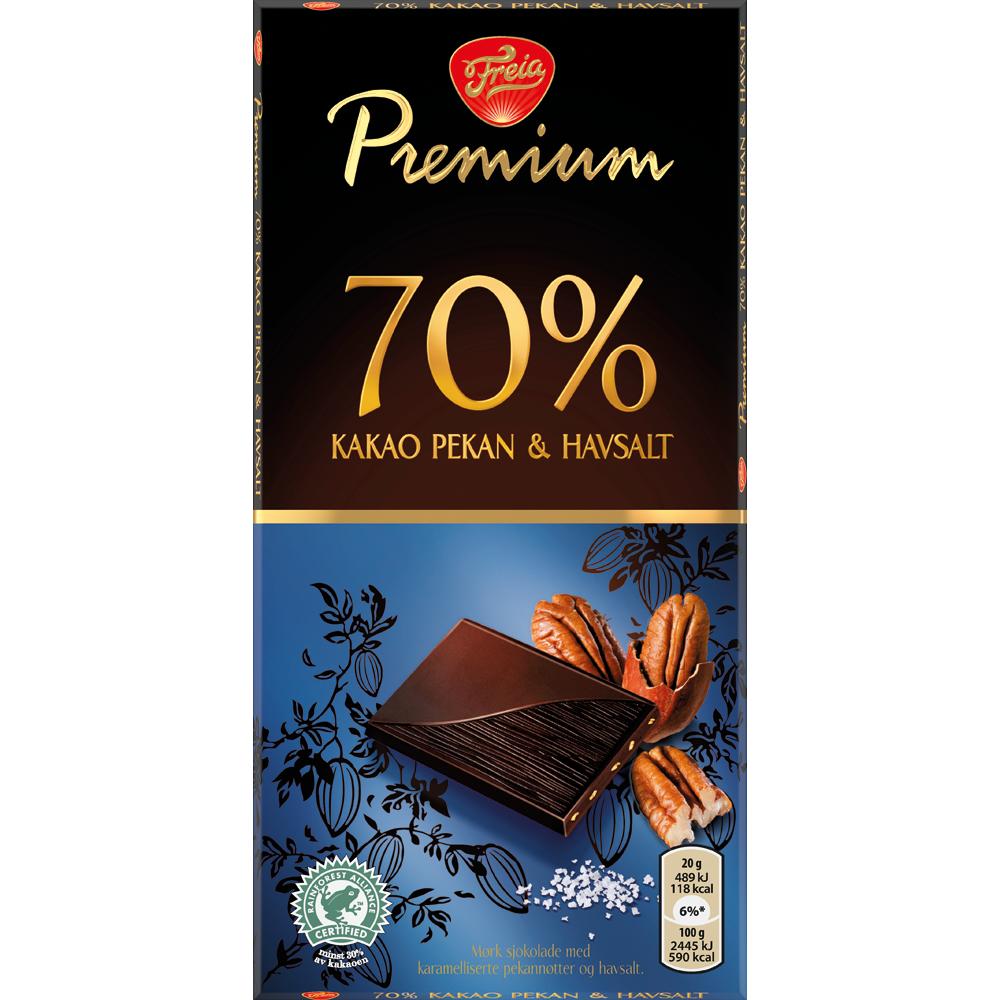 Freia Premium 70 Pekan og Havsalt (100 g)