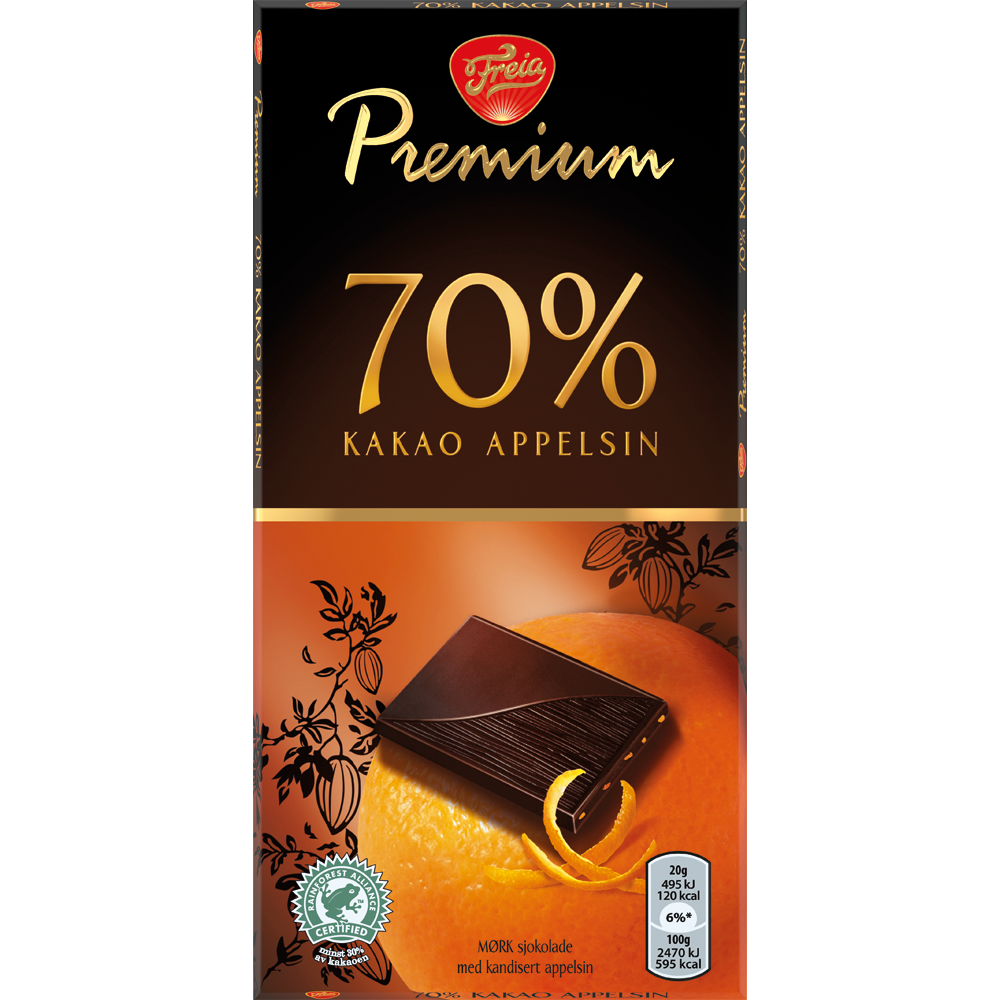 Freia Premium 70 Appelsin (100g)
