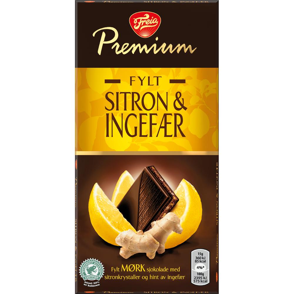 Freia Premium Sitron and Ingefær (150g)