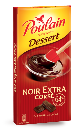 Poulain Noir Corsé 64% - 200 g