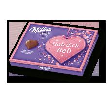 "I love Milka Erdbeer ""Hab dich lieb"" 110g"