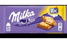 Milka Alpenmilch Schokolade & TUC Cracker