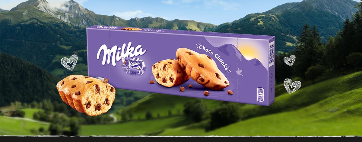 MILKA CHOCO CHUNKS 140g