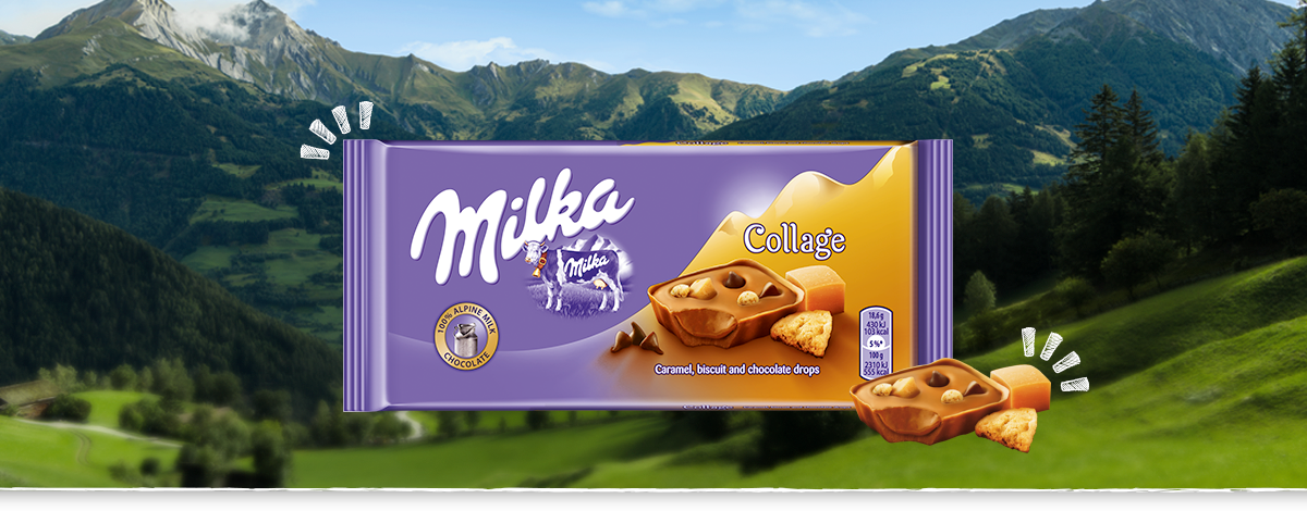 MILKA COLLAGE CARAMEL 93 g