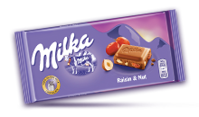 MILKA RAISIN & NUT 100 g
