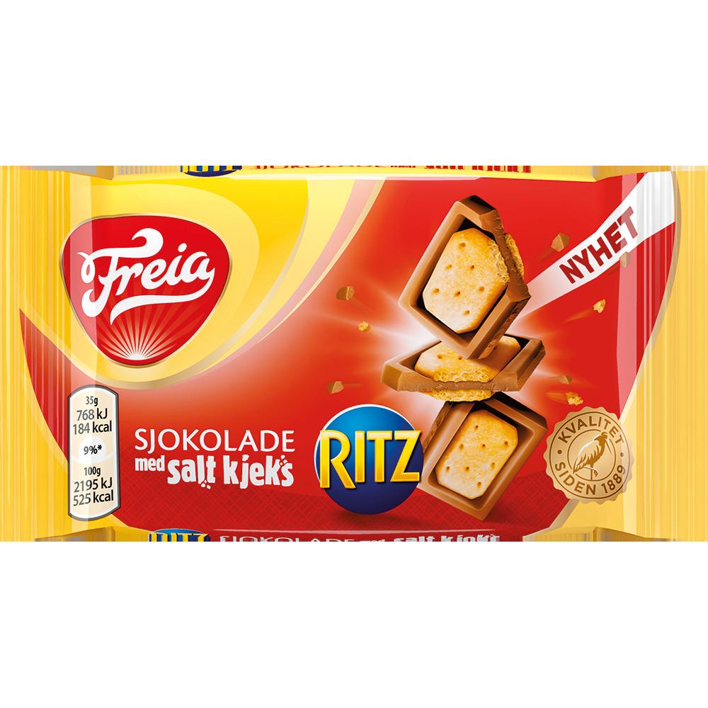 Freia sjokolade med salt kjeks (Ritz) (35g)