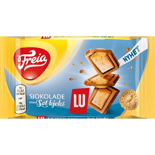 Freia sjokolade med søt kjeks (LU) (35g)