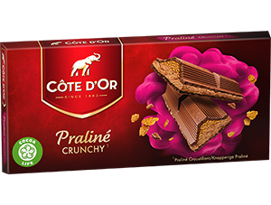 Chocolat Crunchy Praliné Côte d'Or