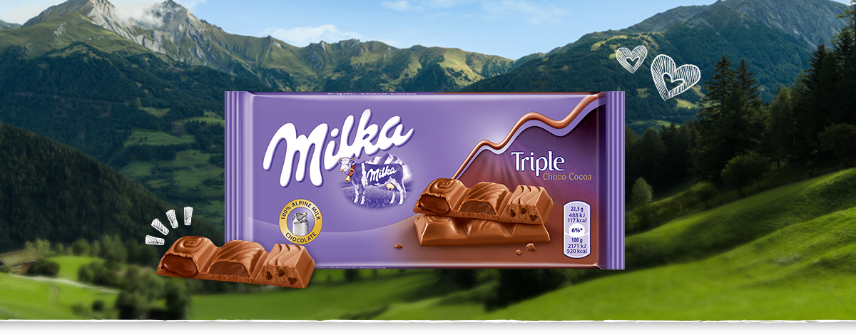 MILKA TRIPLE CHOCO COCOA 90 g