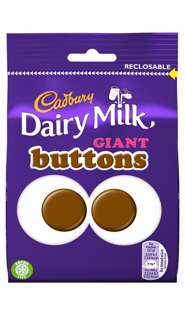 How Many Calories In  Giant Chocolate Button