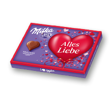"I love Milka 110g Nuss-Nougat Valentinstag ""Alles liebe"""