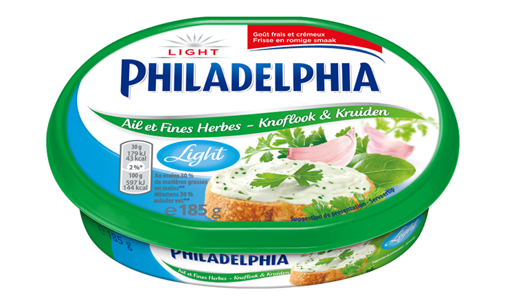Philadelphia Knoflook & Kruiden Light 185 g
