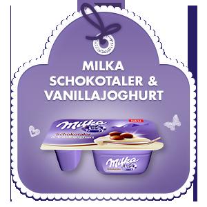 Milka Schokotaler & Vanillajoghurt