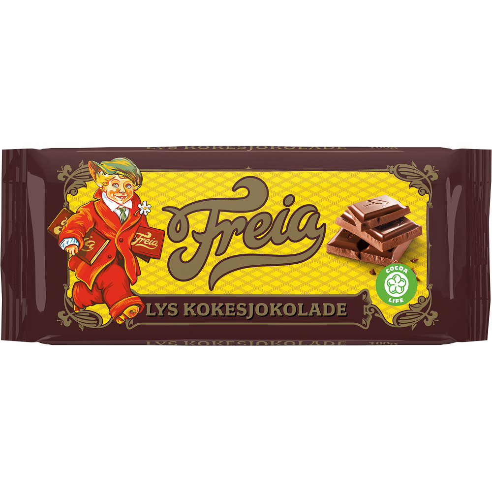 Freia Lys kokesjokolade (100 g)