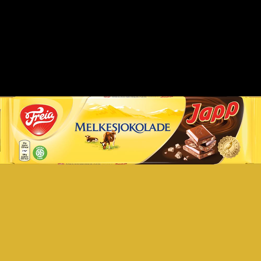 Freia Melkesjokolade med Japp  (200 g)