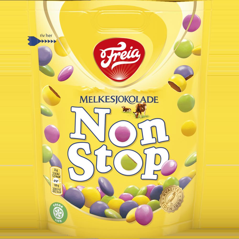 Freia Non Stop Melkesjokolade (225 g)