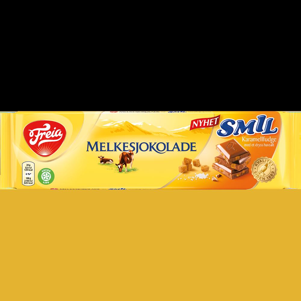 Freia Melkesjokolade Smil Karamellfudge med et dryss havsalt (190 g)