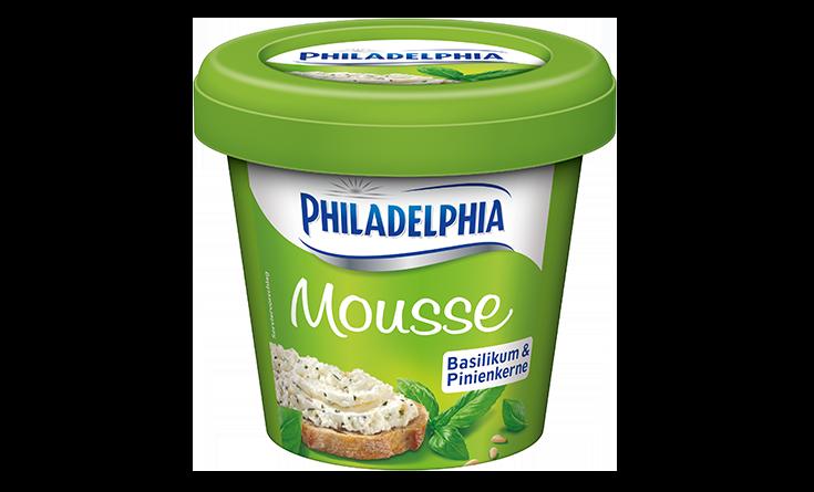 Philadelphia Mousse Basilikum & Pinienkerne