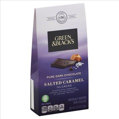 034d1ddbd4954 GREEN   BLACK S Pure Dark Chocolate Salted Caramel 70% Cacao 4.23 OZ