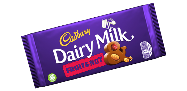 Cadbury Dairy Milk Fruit & Nut | Cadbury co uk