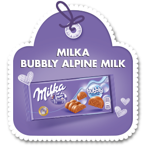 MILKA BUBBLY ALPINE MILK 90 g
